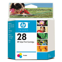 HP 28 Tri-color Ciano, Giallo cartuccia d