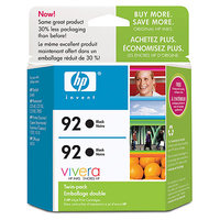HP 92 2-pack Black Nero cartuccia d