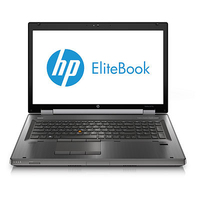"HP EliteBook 8770w 2.8GHz i7-3840QM 17.3"" 1920 x 1080Pixel Carbonella Workstation mobile"