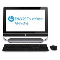"HP ENVY TouchSmart 23-d030ea 3.4GHz i3-2130 23"" 1920 x 1080Pixel Touch screen Nero, Argento"