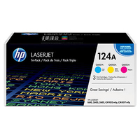 HP 124A Cyan/Magenta/Yellow Laser cartridge 2000pagine Ciano, Giallo