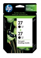 HP 27 2-pack Black Nero cartuccia d