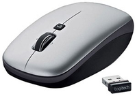 Logitech V550 Nano RF Wireless Laser Grigio mouse