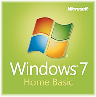 HP Windows 7 Home Basic, x32, 1u, CTO