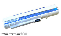 Acer Aspire One Battery - 6 Cell White Ioni di Litio 5200mAh batteria ricaricabile