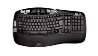 Logitech Cordless Desktop Wave Pro RF Wireless QWERTY Nero tastiera
