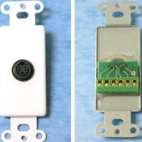 C2G Decorative S-Video Wall Plate Insert