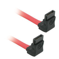 "C2G 7-pin 90° to 90° Serial ATA Device Cable 18"" Rosso cavo SATA"