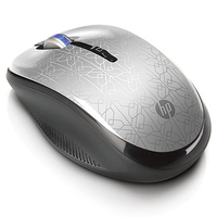 HP WE790AA RF Wireless Ottico 1750DPI Argento mouse