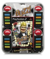 Sony Buzz!: The Hollywood Quiz - Bundle, PS2 PlayStation 2 Inglese videogioco