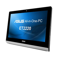 "ASUS ET 2220INTI-B014K 3.3GHz i3-3220 21.5"" 1920 x 1080Pixel Touch screen Nero, Argento"