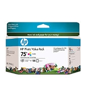 HP 75 Series Photo Value Pack Ciano, Giallo cartuccia d