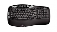 Logitech Cordless Desktop Wave Pro RF Wireless QWERTZ Nero tastiera