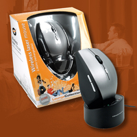Conceptronic Rechargeable 2.4GHz Laser Mouse with Cradle