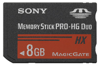 Sony Memory Stick PRO HG Duo Media 8GB 8GB MS memoria flash