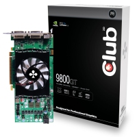 CLUB3D nVidia GeForce 9800GT 512MB PCI-E2.0 GDDR3