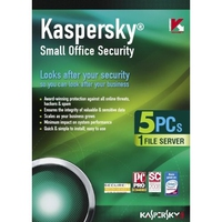 Kaspersky Lab Small Office Security 5 users + 1 File Server 1 Year (PC) 5utente(i) 1anno/i Inglese