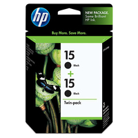 HP 15 2-pack Black Nero cartuccia d