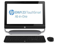 "HP ENVY TouchSmart 23-d040ef 2.7GHz i5-3330S 23"" 1920 x 1080Pixel Touch screen Nero, Argento"