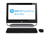 "HP ENVY TouchSmart 23-d110ed 2.7GHz i5-3330S 23"" 1920 x 1080Pixel Touch screen Nero, Argento"