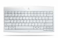 Logitech Cordless Keyboard for Wii RF Wireless Bianco tastiera