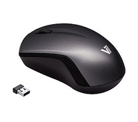 V7 MV3060202-8NB RF Wireless Ottico 1600DPI Nero, Grigio mouse