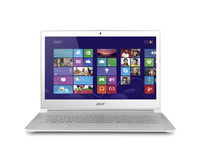 "Acer Aspire 391-73534G25aws 2GHz i7-3537U 13.3"" 1920 x 1080Pixel Touch screen Bianco Computer portatile"
