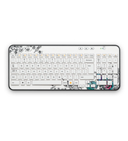 Logitech K360 RF Wireless AZERTY Multicolore tastiera