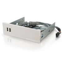 C2G 2-port USB 2.0 Front Bay Hub 480Mbit/s Bianco perno e concentratore