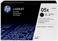 HP 2 x CE505XD Laser cartridge 6500pagine Nero