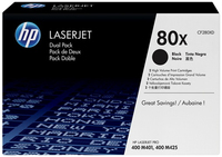 HP 2 x CF280XD Laser cartridge 6900pagine Nero