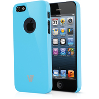 V7 Custodia High Gloss per iPhone 5s | iPhone 5 blu