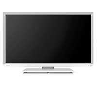 "Toshiba 24D1334B 24"" HD Bianco LED TV"