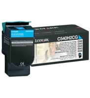 Lexmark 0C540H2CG Cyan High Yield Toner Cartridge 2000pagine Ciano
