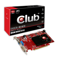 CLUB3D Radeon HD 6670 2GB 2GB GDDR3