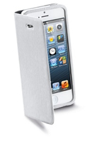 Cellularline Book Wallet f/iPhone 5 Cover Bianco