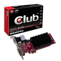 CLUB3D CGAX-6452LX1 Radeon HD6450 1GB GDDR3 scheda video