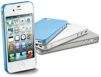 Cellularline 035 collection for iPhone Cover Blu, Grigio, Trasparente