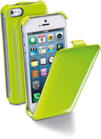 Cellularline Flap Fluo Custodia a libro Verde