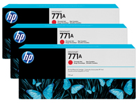 HP 771A 3-pack 775-ml Chromatic Red Rosso cromatico cartuccia d