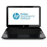 "HP Pavilion TouchSmart 14-b158sf 1.5GHz i3-2375M 14"" 1366 x 768Pixel Touch screen Nero Computer portatile"