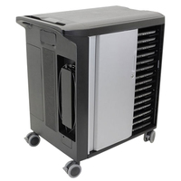 DELL Mobile Computing Cart Managed Portable device management cabinet Nero, Argento