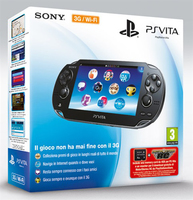 "Sony PS Vita 3G + 4GB + MotorStorm: RC 5"" Touch screen Wi-Fi Nero console da gioco portatile"