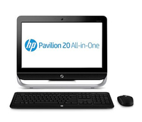 "HP Pavilion 20-b150ed 1.4GHz E1-1200 20"" 1600 x 900Pixel Nero, Argento PC All-in-one"
