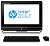 "HP Pavilion TouchSmart 23-f210ed 2.7GHz i5-3330S 23"" 1920 x 1080Pixel Touch screen Nero, Argento PC All-in-one"