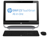 "HP ENVY TouchSmart 23-d039 2.7GHz i5-3330S 23"" 1920 x 1080Pixel Touch screen Nero, Argento PC All-in-one"