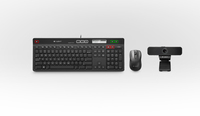 Logitech UC Solution f/ Cisco 725-C QWERTZ Tedesco Nero tastiera