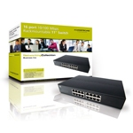 Conceptronic Switch 16 porte 10/100 Mbps 11 inch stackable