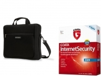 "Kensington Simply Portable SP15 15.4"" Neopprene Sleeve & G DATA InternetSecurity 2009 15.4"" Valigetta ventiquattrore Nero"