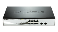 D-Link DGS-1210-08P L2 Gigabit Ethernet (10/100/1000) Supporto Power over Ethernet (PoE) Nero switch di rete